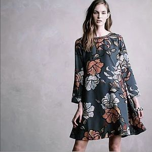 Anthropologie by Maeve Sketched Peonies Tunic